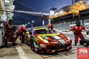 Davide Rigon (ITA) / James Calado (GBR) / Car #71 LMGTE PRO AF Corse (ITA) Ferrari F458 Italia - 6 Hours of Bahrain at Bahrain International Circuit (BIC) - Sakhir - Kingdom of Bahrain