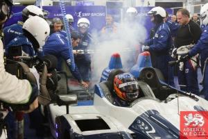 Serguey Zlobin (RUS) / Nicolas Minassian (FRA) / Maurizio Mediani (ITA) / Car #27 LMP2 SMP Racing (RUS) Oreca 03R-Nissan  Fire - 6 Hours of Bahrain at Bahrain International Circuit (BIC) - Sakhir - Kingdom of Bahrain