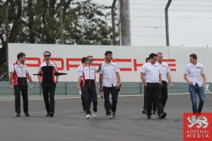 Porsche Team Track Walk - 6 Hours of Sao Paulo at Interlagos Circuit - Sao Paulo - Brazil
