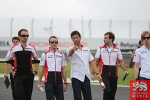 Porsche Team Track Walk  Mark Webber - 6 Hours of Sao Paulo at Interlagos Circuit - Sao Paulo - Brazil
