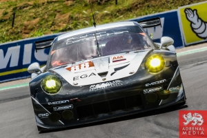 Christian Ried (DEU) / Klaus Bachler (AUT) / Khaled Al Qubaisi (ARE) / Car #88 LMGTE AM Proton Competition (DEU) Porsche 911 RSR - 6 Hours of Sao Paulo at Interlagos Circuit - Sao Paulo - Brazil