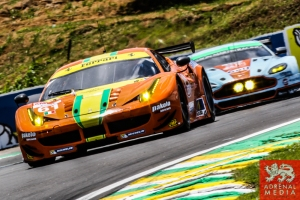 Emerson Fittipaldi (BRA) / Alessandro Pier Guidi (ITA) / Jeffrey Segal (USA) / Car #61 LMGTE AM AF Corse (ITA) Ferrari F458 Italia - 6 Hours of Sao Paulo at Interlagos Circuit - Sao Paulo - Brazil