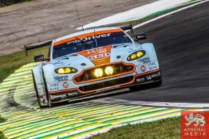 Kristian Poulsen (DNK) / David Heinemeier Hansson (DNK) / Nicki Thiim (DNK) / Car #95 LMGTE AM Aston Martin Racing (GBR) Aston Martin Vantage V8 - 6 Hours of Sao Paulo at Interlagos Circuit - Sao Paulo - Brazil