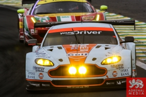 Kristian Poulsen (DNK) / David Heinemeier Hansson (DNK) / Nicki Thiim (DNK) / Car #95 LMGTE AM Aston Martin Racing (GBR) Aston Martin Vantage V8 - 6 Hours of Sao Paulo at Interlagos Circuit - Sao Paulo - Brazil