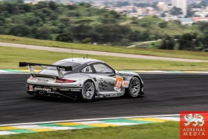 Christian Ried (DEU) / Klaus Bachler (AUT) / Khaled Al Qubaisi (ARE) / Car #88 LMGTE AM Proton Competition (DEU) Porsche 911 RSR - 6 Hours of Sao Paulo at Interlagos Circuit - Sao Paulo - Brazil