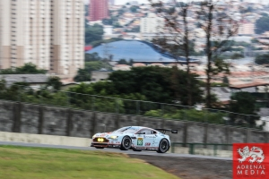 Alex MacDowall (GBR) / Darryl O'Young (CAN) / Fernando Rees (BRA) / Car #99 LMGTE PRO Aston Martin Racing (GBR) Aston Martin Vantage V8 - 6 Hours of Sao Paulo at Interlagos Circuit - Sao Paulo - Brazil