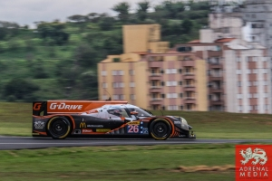 Roman Rusinov (RUS) / Olivier Pla (FRA) / Julien Canal (FRA) / Car #26 LMP2 G-Drive Racing (RUS) Ligier JS P2 - Nissan - 6 Hours of Sao Paulo at Interlagos Circuit - Sao Paulo - Brazil