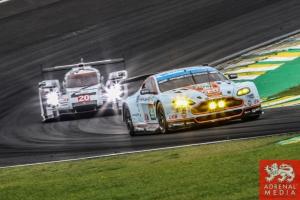 Alex MacDowall (GBR) / Darryl O'Young (CAN) / Fernando Rees (BRA) / Car #99 LMGTE PRO Aston Martin Racing (GBR) Aston Martin Vantage V8 - 6 Hours of Sao Paulo at Interlagos Circuit - Sao Paulo - Brazil