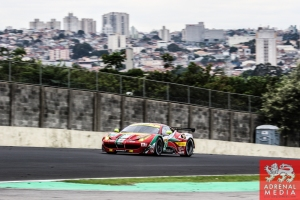 Davide Rigon (ITA) / James Calado (GBR) / Car #71 LMGTE PRO AF Corse (ITA) Ferrari F458 Italia - 6 Hours of Sao Paulo at Interlagos Circuit - Sao Paulo - Brazil