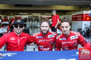 Nicolas Prost (FRA) / Nick Heidfeld (DEU) / Mathias Beche (CHE) / Car #12 LMP1 Rebellion Racing (CHE) Rebellion Toyota R-One - 6 Hours of Sao Paulo at Interlagos Circuit - Sao Paulo - Brazil