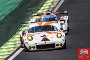Francois Perrodo (FRA) / Emmanuel Collard (FRA) / Matthieu Vaxiviere (FRA) / Car #75 LMGTE AM Prospeed Competition (BEL) Porsche 911 GT3 RSR - 6 Hours of Sao Paulo at Interlagos Circuit - Sao Paulo - Brazil