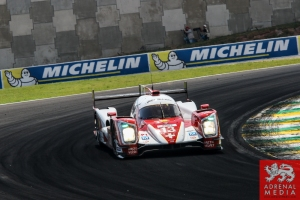 Dominik Kraihamer (AUT) / Andrea Belicchi (ITA) / Fabio Leimer (CHE) / Car #13 LMP1 Rebellion Racing (CHE) Rebellion Toyota R-One  Michelin Banner - 6 Hours of Sao Paulo at Interlagos Circuit - Sao Paulo - Brazil