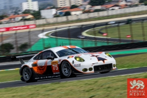 Francois Perrodo (FRA) / Emmanuel Collard (FRA) / Matthieu Vaxiviere (FRA) / Car #75 LMGTE AM Prospeed Competition (BEL) Porsche 911 GT3 RSR - 6 Hours of Sao Paulo at Interlagos Circuit - Sao Paulo - Brazil