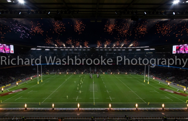 Pyro1  Twickenham  Harlequins vs Northants  27th December 2014