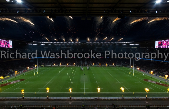 Pyro1  Twickenham  Harlequins vs Northants  27th December 2014