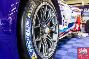 Michelin Branding Olivier Beretta (MCO) / David Markozov (RUS) / Anton Ladygin (RUS) drivers of car #73 SMP RACING  (RUS) Ferrari F458 Italia GT3 at Circuito Estoril - Cascais - Portugal