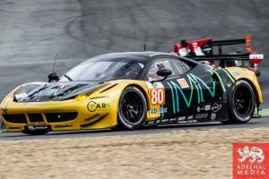 Michael Broniszewski (POL) / Giacomo Piccini (ITA) / - drivers of car #80 KESSEL RACING  (CHE) Ferrari F458 Italia Free Practice 1 at Circuito Estoril - Cascais - Portugal