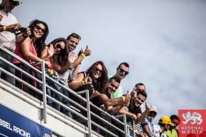 fans watching the Qualifying 2 LMP2 at Circuito Estoril - Cascais - Portugal