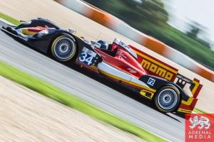 Michel Frey (CHE) / Franck Mailleux (FRA) / Patric Niederhauser (CHE) drivers of car #34 RACE PERFORMANCE  (CHE) Oreca 03 - Judd Race at Circuito Estoril - Cascais - Portugal
