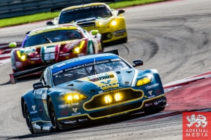 Alex MacDowall (GBR) / Darryl O'Young (CAN) / Fernando Rees (BRA) drivers of car #99 LMGTE PRO Aston Martin Racing (GBR) Aston Martin Vantage V8 FIA WEC 6 hours race of the 6 hours of the Circuit of the Americas - Austin - Texas - USA