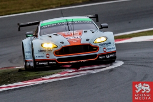 Paul Dalla Lana (CAN) / Pedro Lamy (PRT) / Christoffer Nygaard (DNK) / drivers of car #98 LMGTE AM Aston Martin Racing (GBR) Aston Martin Vantage V8    Free Practice 2  Fuji Speedway - Shizuoka Prefecture - Japan