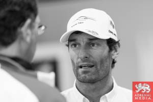 Mark Webber Media Interviews with drivers at Fuji Speedway - Shizuoka Prefecture - Japan