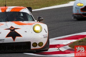 Francois Perrodo (FRA) / Emmanuel Collard (FRA) / Matthieu Vaxivi?re (FRA) / drivers of car #75 LMGTE AM Prospeed Competition (BEL) Porsche 911 GT3 RSR at Fuji Speedway - Shizuoka Prefecture - Japan