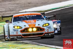 Kristian Poulsen (DNK) / David Heinemeier Hansson (DNK) / Nicki Thiim (DNK) / Car #95 LMGTE AM Aston Martin Racing (GBR) Aston Martin Vantage V86 - 6 Hours of Sao Paulo at Interlagos Circuit - Sao Paulo - Brazil