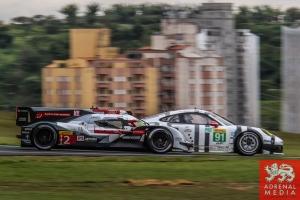 Marcel Fassler (CHE) / Andre Lotterer (DEU) / Benoit Treluyer (FRA) / Car #2 LMP1 Audi Sport Team Joest (DEU) Audi R18 e-tron quattro - 6 Hours of Sao Paulo at Interlagos Circuit - Sao Paulo - Brazil