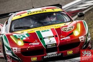 Gianmaria Bruni (ITA) / Toni Vilander (FIN) / drivers of car #51 LMGTE PRO AF Corse (ITA) Ferrari F458 Italia Free Practice 1 - 6 Hours of Shanghai at Shanghai International Circuit - Shanghai - China
