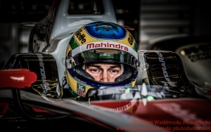21 Bruno Senna (BRA) Mahindra Racing Formula E Team FormulaE Test Day Donnington Park 10th August 2015 Photo: - Richard Washbrooke Photography