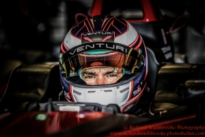 30 Stephane Sarrazin (FRA) Venturi Formula E Team FormulaE Test Day Donnington Park 10th August 2015 Photo: - Richard Washbrooke Photography FormulaE Test Day Donnington Park 10th August 2015