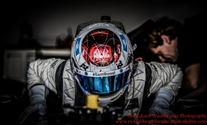 2 Sam Bird (GBR) DS Virgin Racing Formula E Team FormulaE Test Day Donnington Park 10th August 2015 Photo: - Richard Washbrooke Photography