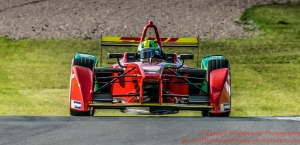 11 Lucas di Grassi (BRA) ABT Schaeffler Audi Sport FormulaE 6 Loic Duval (FRA) Dragon Racing Test Day Donnington Park 10th August 2015 Photo: - Richard Washbrooke Photography