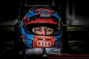 6 Loic Duval (FRA) Dragon Racing FormulaE Test Day Donington Park 11th August 2015 Photo: - Richard Washbrooke Photography