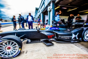 2 Sam Bird (GBR) DS Virgin Racing Formula E Team Formula E Test Day Donington 17th August 2015 Raw Photo: - Richard Washbrooke Photography