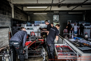 Ventura Team Garage Formula E Test Day Donington 17th August 2015 Raw Photo: - Richard Washbrooke Photography