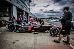 12 Jacques Vileneuvre (CAN) Venturi Formula E Team Formula E Test Day Donington 17th August 2015 Raw Photo: - Richard Washbrooke Photography
