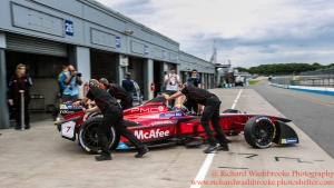 6 Loic Duval (FRA) Dragon Racing Formula E Test Day Donington 17th August 2015 Raw Photo: - Richard Washbrooke Photography