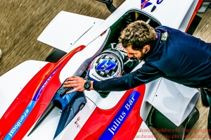 55 Nicola Lapierre (FRA) Team Aguri Formula E Test Day Donington 17th August 2015 Raw Photo: - Richard Washbrooke Photography