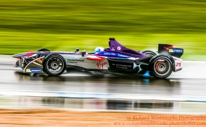 2 Sam Bird (GBR) DS Virgin Racing Formula E - Donington Test 24th August 2015 Photo: - Richard Washbrooke Photography
