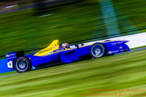 9 Sebastien Buemi (CHE) Renault e.Dams Formula E - Donington Test 25th August 2015 Photo: - Richard Washbrooke Photography