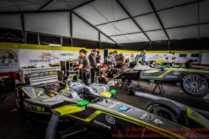 NEXTEV TCR Formula E Team garage FormulaE Battersea, London Round 11 2nd Practice Photo: - Richard Washbrooke Photography