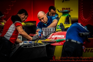 ABT Schaeffler Audi Sport Garage FormulaE Battersea, London Round 11 2nd Practice Photo: - Richard Washbrooke Photography