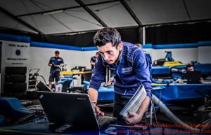 Renault e.Dams garage FormulaE Battersea, London Round 11 2nd Practice Photo: - Richard Washbrooke Photography