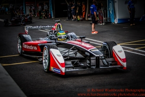 21 Bruno Senna (BRA) Mahindra Racing Formula E Team FormulaE Battersea, London Round 11 2nd Practice Photo: - Richard Washbrooke Photography