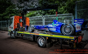 55 Sakon Yamamoto (JPN) Amlin Aguri FormulaE Battersea, London Round 11 2nd Practice Photo: - Richard Washbrooke Photography