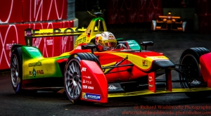 66 Daniel Abt (DEU) Audi Sport ABT Formula E team FormulaE Battersea, London Round 11 Qualifying Photo: - Richard Washbrooke Photography
