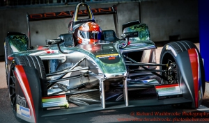 6 Loic Duval (FRA) Dragon Racing FormulaE Battersea, London Round 11 Race Photo: - Richard Washbrooke Photography