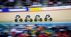 men's Team Pursuit Qualifying Team France 2nd March 2016
